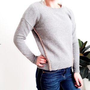 J. Crew Diamond Studded Chunky Wool Sweater